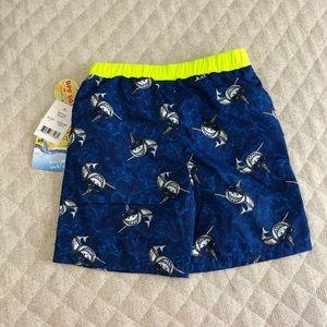 Bunz Kids Swim - Bunz Kids smiling shark swim trunks